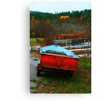 Red Boat Blue Waters Canvas Print