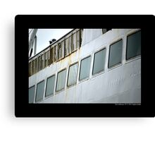 Park City Ferry Windows Detail - Port Jefferson, New York  Canvas Print