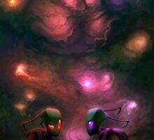 Invader Zim Fan Art - Almighty Tallest Red & Purple Sticker