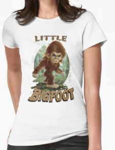 Little Bigfoot Art for Toddlers Womens Fitted T-Shirt