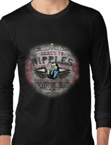 NIPPLES SEXY CUTE T SHIRT, FUN,STYLE,GIRLS,MEN,COLOURS,BREASTS,FUNNY,COOL,STYLE Long Sleeve T-Shirt