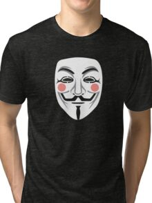 Anonymous/Guy Fawkes mask Tri-blend T-Shirt