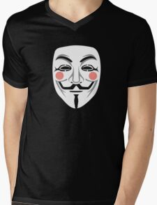 Anonymous/Guy Fawkes mask Mens V-Neck T-Shirt