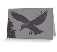 Jackdaw Escapes Greeting Card