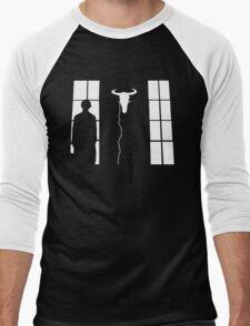 Bored silhouette Men's Baseball ¾ T-Shirt