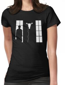 Bored silhouette Womens Fitted T-Shirt