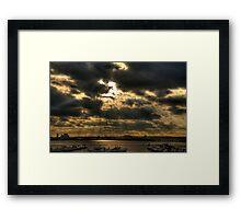 Sun over River Framed Print