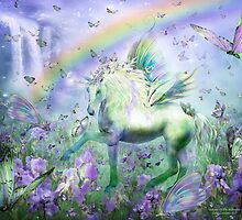 Unicorn Of The Butterflies by Carol  Cavalaris