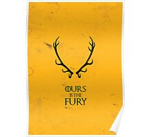 Ours is the Fury - Game of Thrones Poster