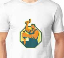 Carpenter Sculptor Hammer Chisel Retro Unisex T-Shirt