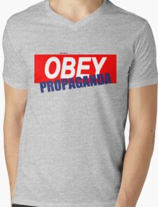 OBAY Propaganda Mens V-Neck T-Shirt