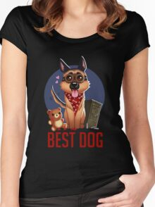 Best Dog Women's Fitted Scoop T-Shirt