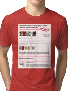RED BUBBLE TEMPLATE  Tri-blend T-Shirt