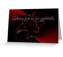 Cocktail Party Invitation - Red and Black Design Greeting Card