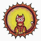 Sun cat in the sun by Tracey Quick