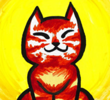 Sun cat in the sun Sticker