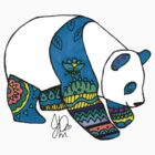 Panda in Sharpie by JasmineMDeLeon