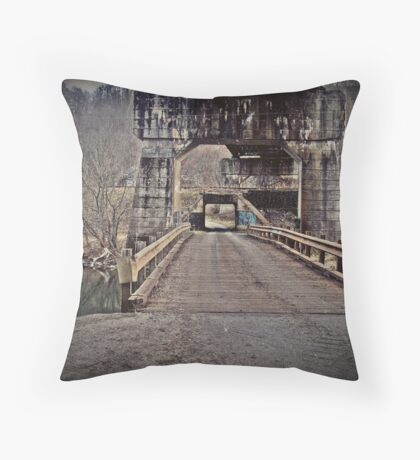 andrew scott bridge antique Throw Pillow
