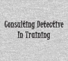Consulting Detective In Training- Black Kids Clothes