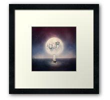 Moon House Framed Print