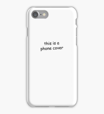 this is a phone cover iPhone Case/Skin