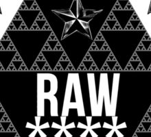 RAW**** X STAR Sticker