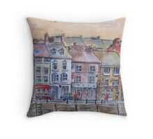 Whitby, North Yorkshire Throw Pillow