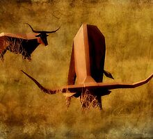 Longhorns In Metal by SuddenJim