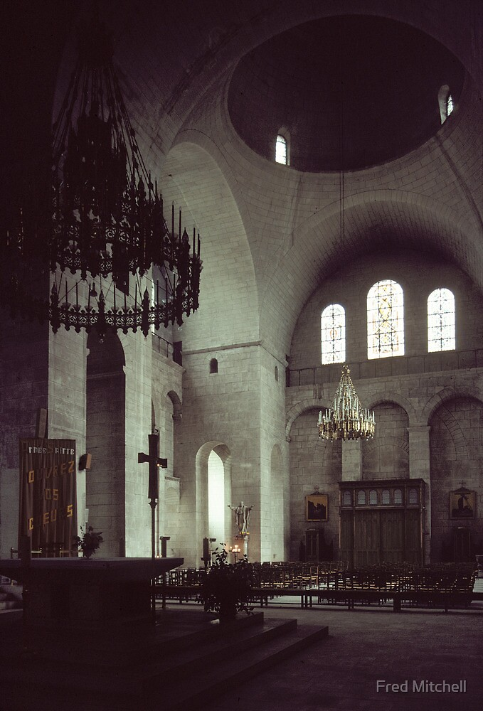 Altar and south transept Perigaux Cathedral 198402260025  by Fred Mitchell