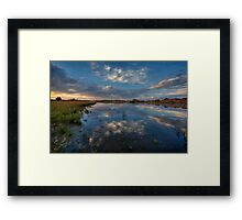 Bending Elements Framed Print