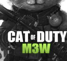 Cat of Duty Sticker