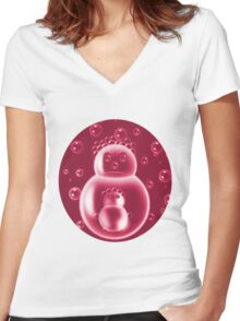✾◕‿◕✾REDBUBBLES MOM AND BABY BUBBLE CHILDRENS TEE SHIRT✾◕‿◕✾ Women's Fitted V-Neck T-Shirt