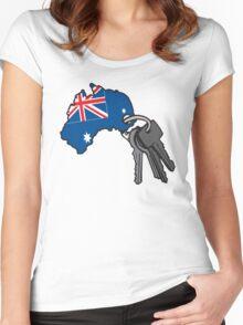 Keys to Australia  Women's Fitted Scoop T-Shirt