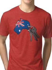 Keys to Australia  Tri-blend T-Shirt