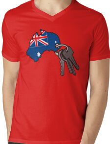 Keys to Australia  Mens V-Neck T-Shirt