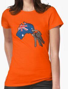 Keys to Australia  Womens Fitted T-Shirt
