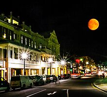 Front Street Night Life Hamilton Bermuda by buddybetsy