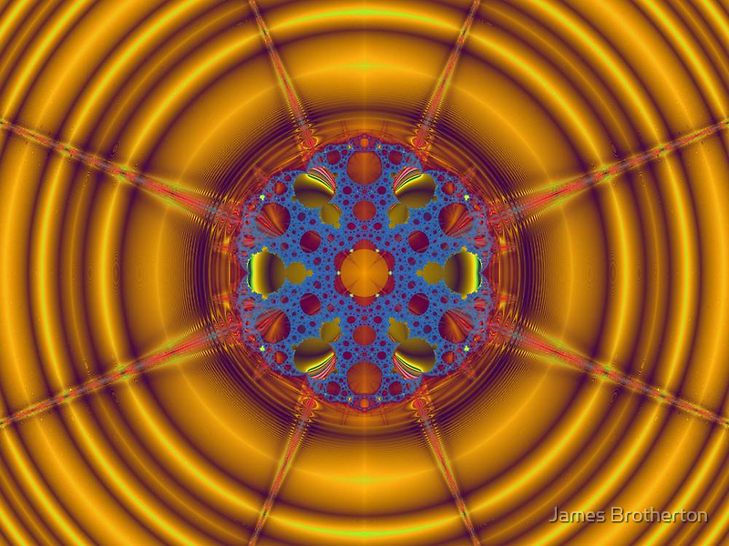 Mandelbulb Sun by James Brotherton