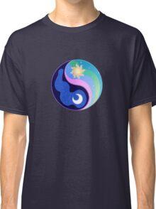 Celestia/Luna Yin Yang Subtle Brony Symbol Classic T-Shirt