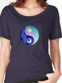 Celestia/Luna Yin Yang Subtle Brony Symbol Women's Relaxed Fit T-Shirt
