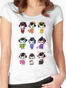 Chibi Geisha Women's Fitted Scoop T-Shirt