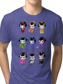 Chibi Geisha Tri-blend T-Shirt
