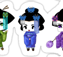 Chibi Geisha Sticker