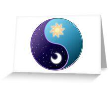 Celestia/Luna Sky Yin Yang - Subtle Brony Greeting Card