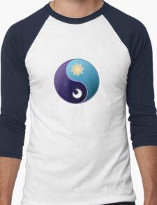 Celestia/Luna Sky Yin Yang - Subtle Brony Men's Baseball ¾ T-Shirt