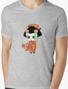 Chibi Lady Daidai Mens V-Neck T-Shirt