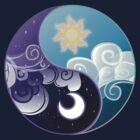 Celestia/Luna Sky and Clouds Yin Yang - Subtle Brony by nimaru