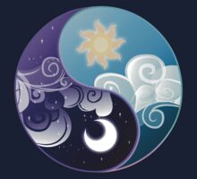 Celestia/Luna Sky and Clouds Yin Yang - Subtle Brony by nimaru
