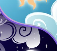 Celestia/Luna Sky and Clouds Yin Yang - Subtle Brony Sticker