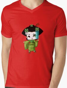 Chibi Lady Midori Mens V-Neck T-Shirt